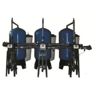 Háromoszlopos vízlágyító berendezés