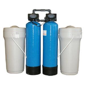 Vízlágyító iker kétoszlopos, mennyiségvezérelt